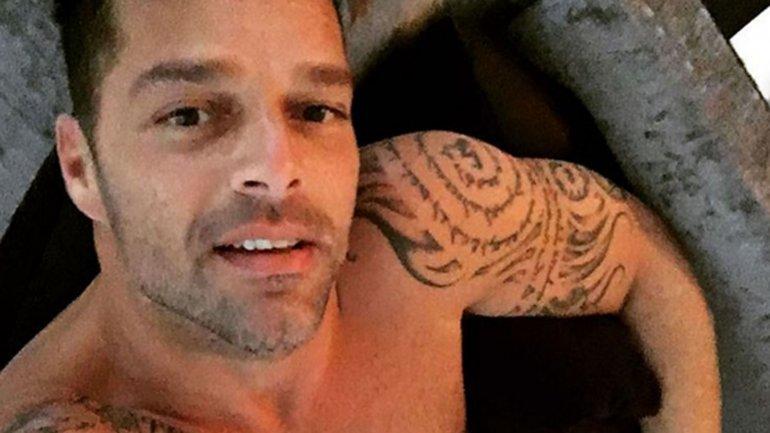 Ricky Martin está de vacaciones y mostró su cuerpo en Instagram