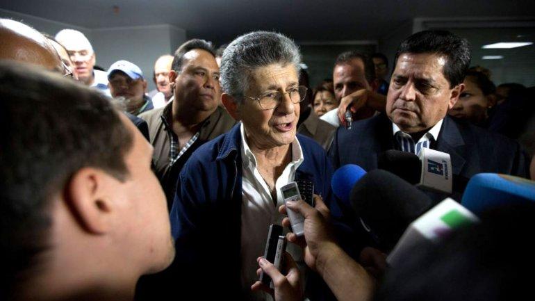 Henry Ramos Allup, presidente electo de la Asamblea Nacional de Venezuela
