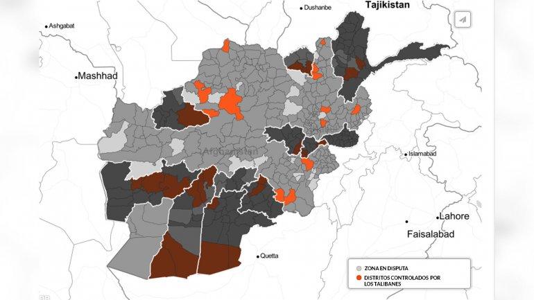 El avance talibán en Afganistán