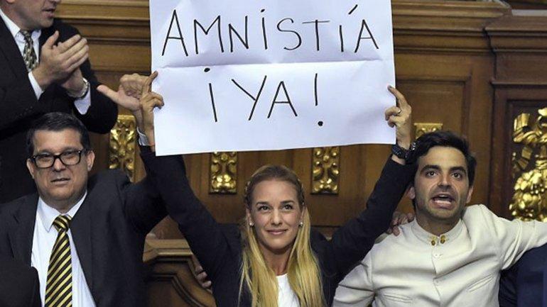 Lilian Tintori pidió una Ley de Amnistía el día de la jura de los nuevos diputados
