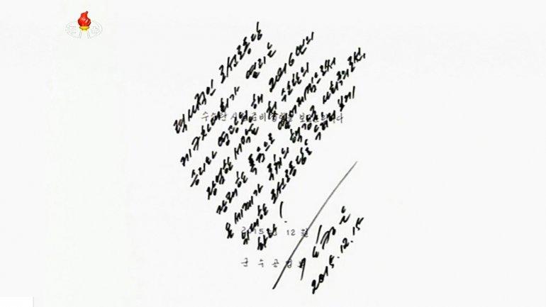 Kim Jong-un autorizó, con su firma, el pasado 3 de enero la prueba nuclear