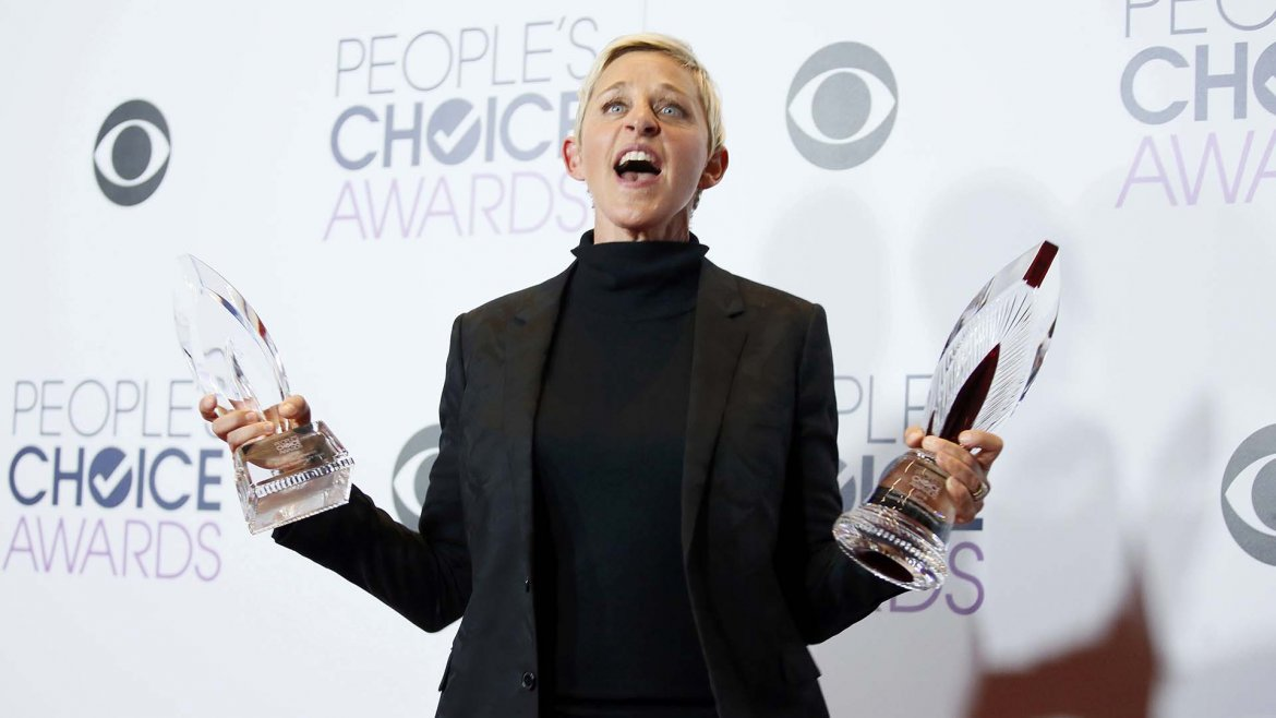 Ellen DeGeneres es la gran triunfadora de los Peoples Choice Awards 2016