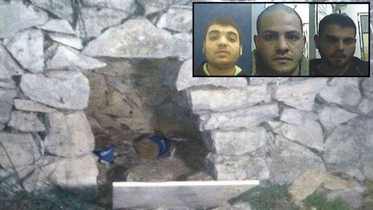 Ese es el hoyo que excavaron los terroristas de Hamas para su potencial ataque contra israelíes