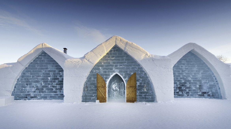 El hotel fue construido en su totalidad con hielo y nieve