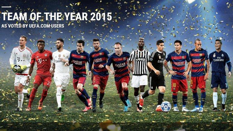 Así quedó el mejor equipo de 2015 elegido por los usuarios de la UEFA