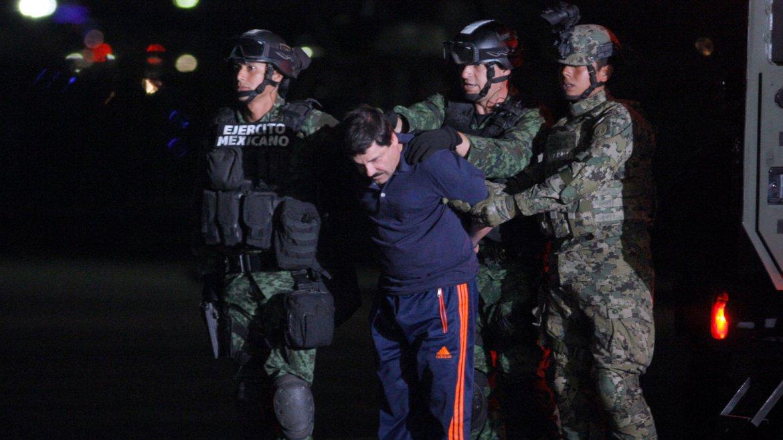 El Ejército de México trasladó a El Chapo en un helicóptero hasta el penal El Altiplano