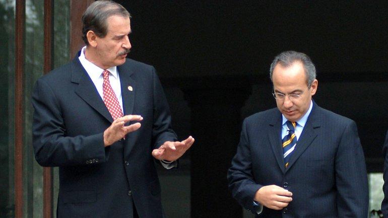 Vicente Fox y Felipe Calderón, ex presidentes de México