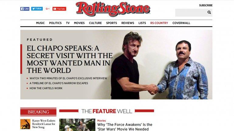 Sean Penn y El Chapo Guzmán juntos.La foto fue tomada el 2 de octubre de 2015.