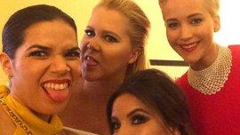 Las actrices en la previa de la entrega de los Globos de Oro
