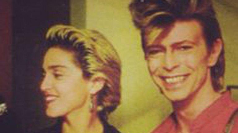 Madonna recordó que fue en la ciudad estadounidense de Detroit donde asistió al primer concierto de su admirado colega David Bowie.