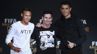 Neymar, Lionel Messi y Cristiano Ronaldo fueron los mejores futbolistas del 2015