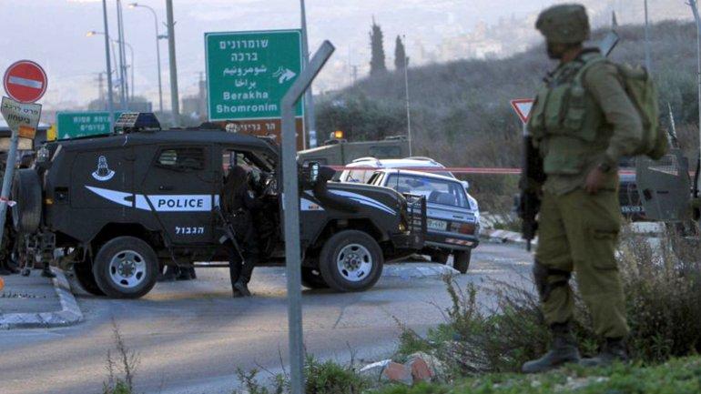 Un puesto de control en Cisjordania, donde ocurrió el ataque
