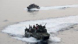Dos barcos norteamericanos en el Golfo Pérsico (Foto: Archivo)