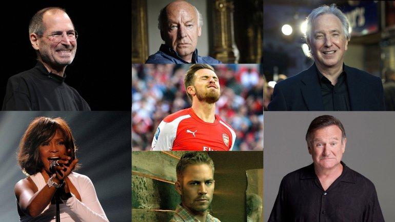 Las muertes de Steve Jobs, Eduardo Galeano, Alan Rickman,Whitney Houston, Paul Walker yRobin Williams fueron algunas de las que coincidieron con los goles de Aaron Ramsey