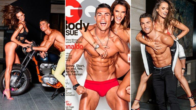 El futbolista portugués Cristiano Ronaldo y la modelo brasileña Alessandra Ambrosio, juntos para la Revista GQ