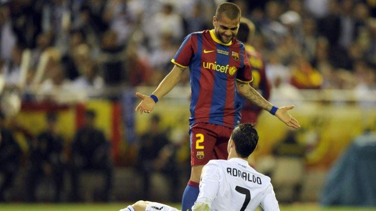 Daniel Alves y Cristiano Ronaldo tienen una muy mala relación