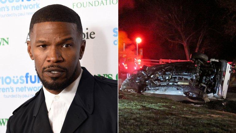 Jamie Foxx rescató a un hombre que chocó su auto en una autopista de California