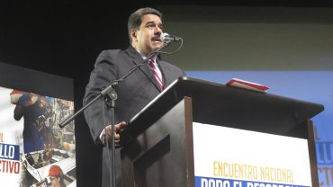 Nicolás Maduro criticó a Juan Manuel Santos y a Mariano Rajoy