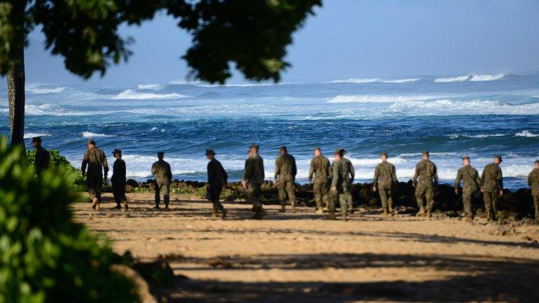 La búsqueda de los marines el pasado 18 de enero