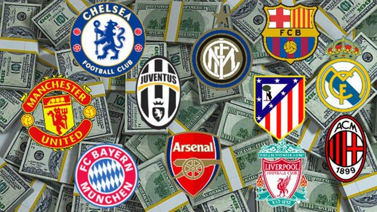 En total, los 20 clubes generaron más de 7.200 millones de dólares