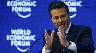 Enrique Peña Nieto habló de El Chapo Guzmán en Davos