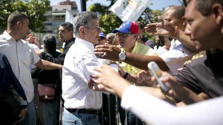 Henry Ramos Allup brindó un enérgico discurso contra el chavismo en la capital de Venezuela