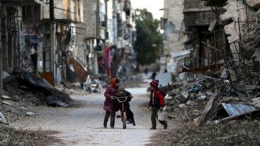 La capital de Siria, Damasco, también se encuentra destruída por la guerra civil y los bombardeos