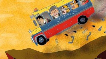 En la caricatura de The Economist Nicolás Maduro maneja un autobús, en el que el presidente de AN Henry Ramos Allup viaja como primer pasajero