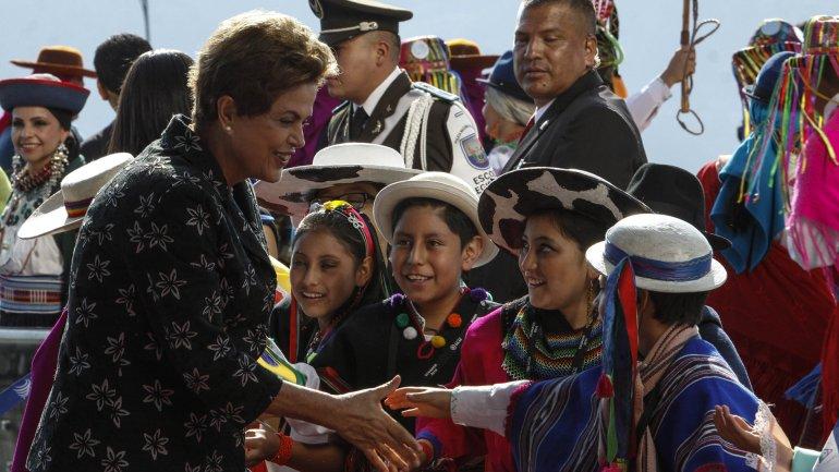 la presidente de Brasil, Dilma Rousseff, en Ecuador por la cumbre de la Celac