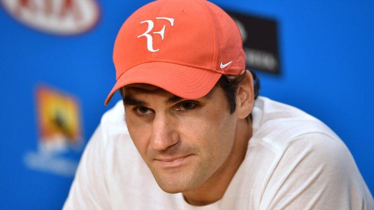 Roger Federer, en la confrencia de prensa posterior a la semifinal del Australian Open