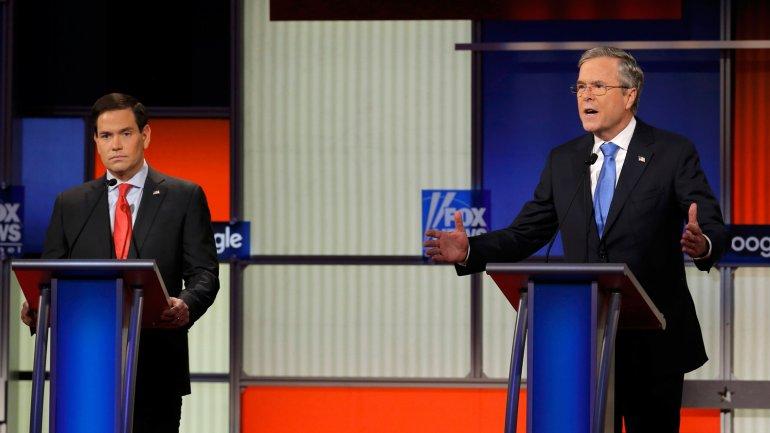 Marco Rubio y Jeb Bush