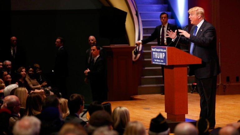 Donald Trump en el evento paralelo realizado en Iowa