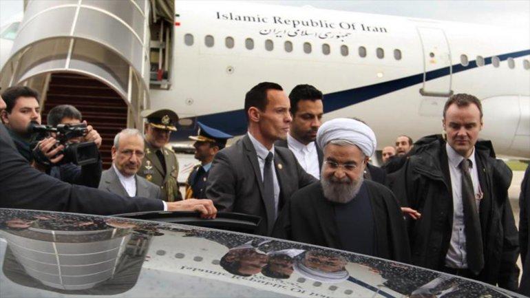 Hasan Rohani llegado a París, el tercer destino de su gira europea
