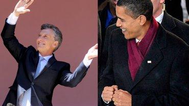 Mauricio Macri y Barack Obama bailaron en el día de sus respectivas asunciones como presidentes