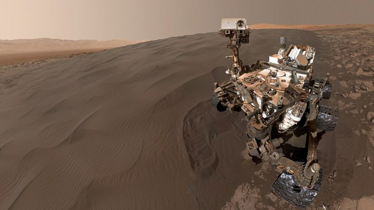 La autofoto de Curosity en Marte