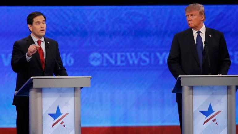 Marco Rubio y Donald Trump, en un intenso debate
