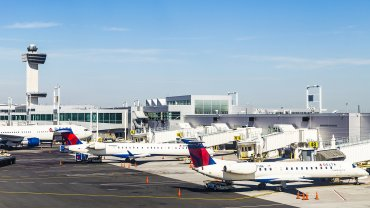 El aeropuerto John Fitzgerald Kennedy (JKF) de Nueva York, uno de los más transitados del mundo.
