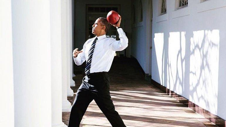 La foto fue publicada en la cuenta oficial de Twitter de la Casa Blanca