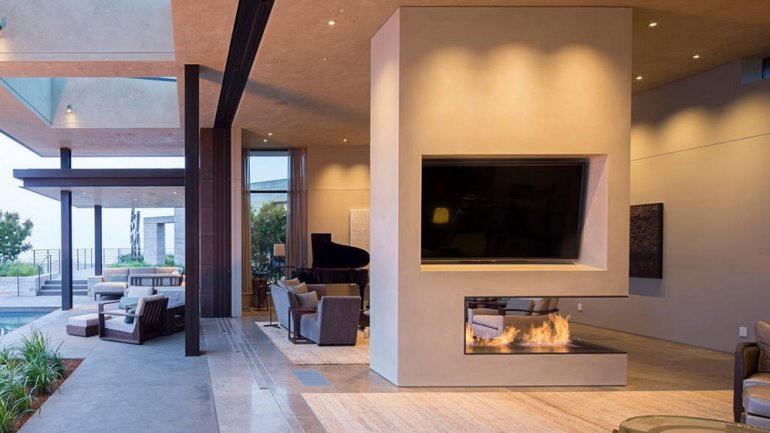 Sala de estar interior y exterior <br>
