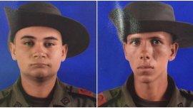 Los soldadosEdison Montoya y Jhon Oquendo fueron asesinados por el Ejército de Liberación Nacional (ELN), en Colombia