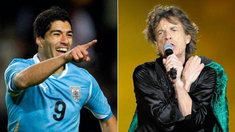 Luis Suárez le hizo un regalo especial a Mick Jagger
