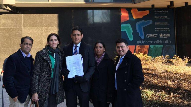 La comitiva venezolana que viajó a Washington para el encuentro con las autoridades de la OMS