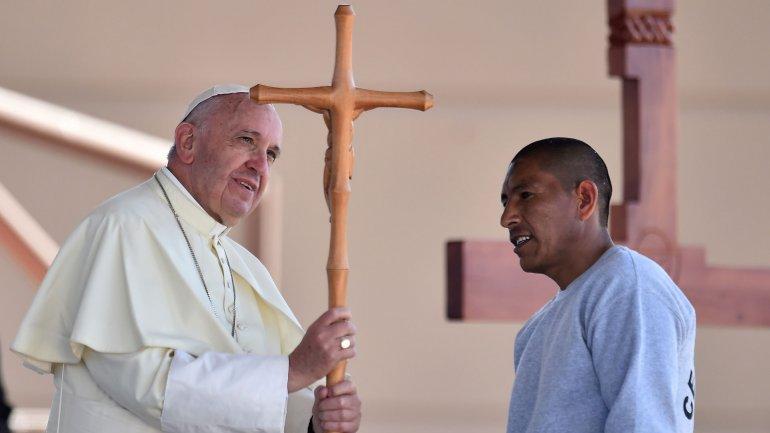 El papa Francisco visitó una cárcel en Ciudad Juárez