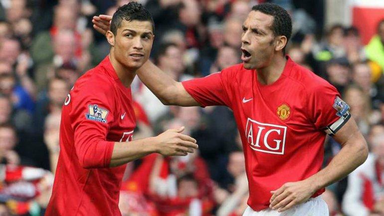 Cristiano Ronaldo y Rio Ferdinand compartieron equipo en el Manchester United