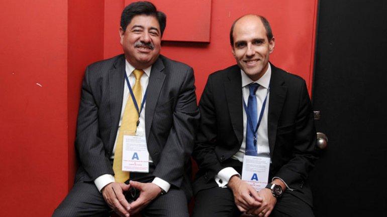 El colombiano Luis Bedoya y el chileno Sergio Jadue