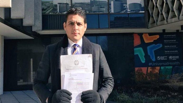 José Manuel Olivares hizo el pedido de ayuda humanitaria ante la OMS
