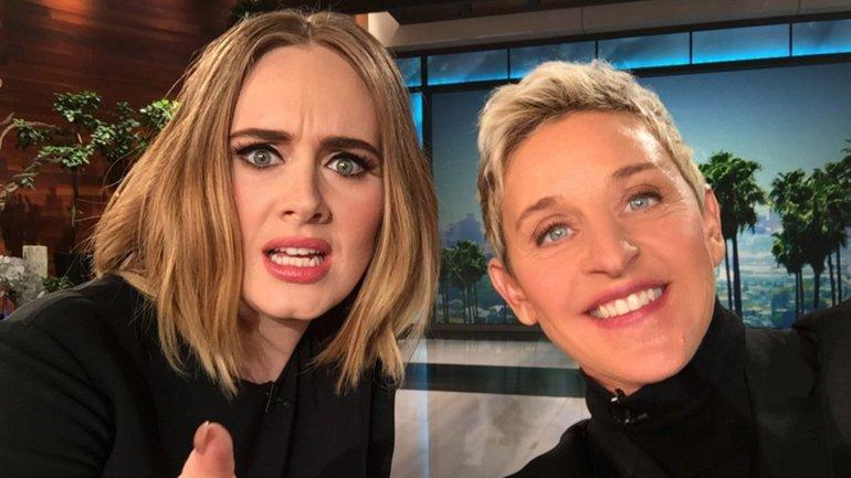 Adele junto a Ellen DeGeneres
