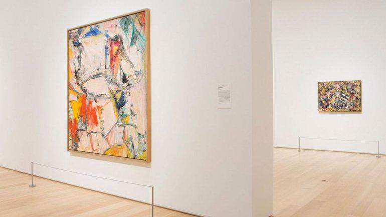 Interchange (en primer plano)yNumber 17 (detrás), iconos del arte expresionista abstracto, serán exhibido en elInstituto de Arte de Chicago,la ciudad donde Griffin tiene la sede de su empresa.