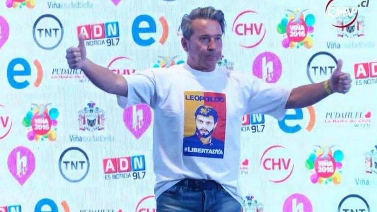 Ricardo Montaner pidió por la libertad de Leopoldo López en Viña del Mar