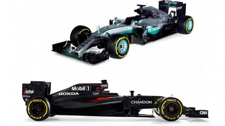 El Mercedes W07 y el McLaren MP4-31